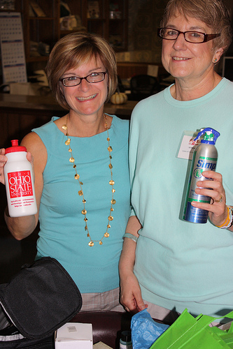 Farm and Dairy Editor Susan Crowell (left) with retiring advertising representative and publisher's assistant, Georgeanne Wolf.