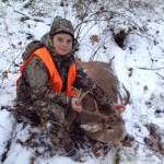 Jarrod Rose, Homeworth, Ohio, took this 8-point buck.