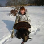 This 20-pound turkey was shot just one day after Thanksgiving by Clancy Hall.