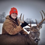 Maggie O'Donnell, Butler County, Ohio, shot this 8-point buck from 100 yards away on the last day of gun season.