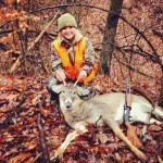 Nicole Davis shot this deer in Richmond, Ohio. It was taken from 45 yards with a 20-gauge.