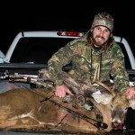 Benjamin Pecchia, Canfield, Ohio, shot this buck in Greenford, Ohio. According to Pecchia, the buck was chasing does around a cornfield when he shot him with a compound bow from ten yards away.