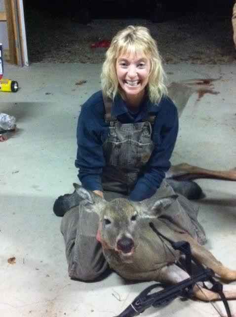 Theresa Theil, Damascus, Ohio, shot this 145-pound deer near Salem, Ohio, with a crossbow.