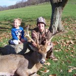 This 8-point buck was taken down with a crossbow by Jayme Ottena.