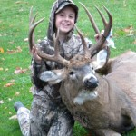 Mason Colwell, 8, shot his first buck on Friday, Nov. 2. The 10 point buck weighed 220lbs.