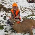 Nine-year-old Madison Lutz tagged this 7-point buck in Lawrence County Pennsylvania.