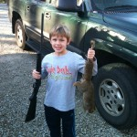 Brock Rhodes bagged his first squirrel!