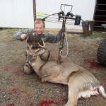 10-year-old, Max Madrill, of Wooster, Ohio, bagged his first 8-point buck.