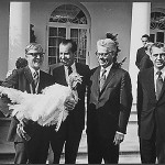 President Nixon receives a turkey