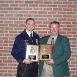Thanks to a lot of work and encouragement from his vo-ag teacher and FFA adviser Don Jones, Harrison County's Garrit Sproull won the 2012 National FFA Swine Production Entrepreneurship award. (Submitted photo)