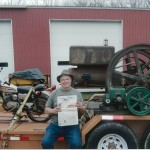 Pete Adomis, of York, Pa., stopped at the Iron Acres Museum in East Sparta, Ohio. While there, he spotted the Farm and Dairy and brought it along on his ride to Pennsylvania to visit friends.