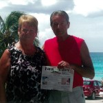 Dale and Judy Devore, of Bloomingdale, Ohio, brought Farm and Dairy along for a family vacation in Aruba. We were glad to be part of the family!