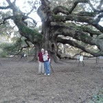 Bob Ingalls and Margaret Yannucci read their Farm and Dairy while standing in front of the Angel Oak Tree on John's Island, near Charleston, S.C. The Southern live oak, at more than 1500 years old, is believed to be one of the oldest things in this country. Bob and Margaret were visiting family for Thanksgiving on nearby Folly Beach and Wadmalaw Island.