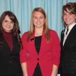 Newly selected Beef Ambassadors for the Ohio Cattlemen's Association and Ohio Beef Council include Hayley Beck, Huron County; Josie Vanco, Gallia County; and Sierra Jepson, Fairfield County.