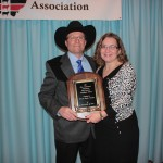 Kris and Becky Vincent, of Tri-Pine Farms, East Canton, Ohio, received the Ohio Cattlemen's Association top honor, the Industry Excellence Award, Jan. 26 at the association's annual meeting in Dublin.