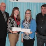 Bailey Harsh, Lindsey Grimes and Megan Hunker received the Steve R. Rauch Scholarships.