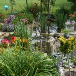 Another view of Susan Withers' water garden in Greenford, Ohio.