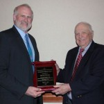 Pa. Holstein Association Executive Secretary Ken Raney (left) and honoree Horace Backus.