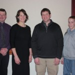 (L-R) Mike Ammon, Jill Ammon, Darvin Yoder and his son, Jordan, accepted the Pioneer Award for the late Mark S. Yoder.