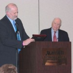 Horace Backus received a surprise Distinguished Supporter Award from the Pa. Holstein Association.