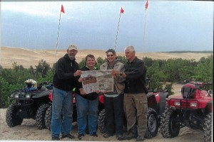 Chuck and Tina Dazey, of Louisville, Ohio, and Gary and Linda Miller, of Hartville, Ohio, brought Farm and Dairy four-wheeling on the sand dunes of Lake Michigan for a week. After all the fun on the hills in the sand and mud, we had to empty our shoes!