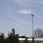 This windturbine provides enough power for the landscaping lights in the Marlington High School garden.
