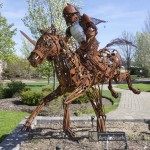 This sculpture was paid for through a grant from Arts in Stark. The Marlington High School horticulture program will receive the grant for three years.
