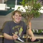 Daniel Lee works on a project in the horticulture program.