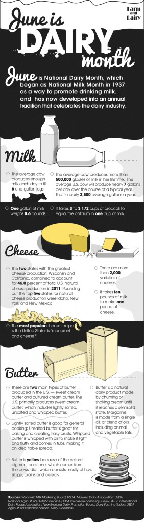 National dairy month infographic