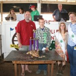The grand champion single fryer rabbit, raised by Sam Barrick, sold for $225 to Chesapeake Energy, represented by Jesse Redwine.
