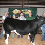 Haley Drake earned the grand champion steer project award. Her 1,326-pound steer sold for  $3 a pound to Paris Washington Insurance, represented by Hunter Palmer and Kelly Palmer. Drake was also the senior skillathon winner and showman of showmen.