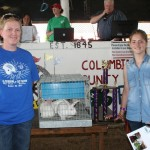 Ashley Wright raised the reserve champion pen of market rabbits, which sold for $300 to the Penn-Ohio Rabbit Breeders, represented by Mary Matthews.