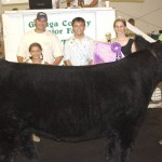 Mike Wargo sold his 1,340-pound grand champion steer to Carter Lumber Middlefield for $7.50 a pound.