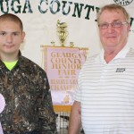 Reserve Energy, represented by Joe Haas, paid $30 a pound for Jared Zimperman's reserve champion pen of meat rabbits that weighed 9.42 pounds.