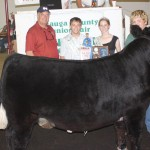 Jacob Carver's 1,342-pound reserve champion market steer sold for $6.85 a pound to Pat Preston, of Preston Chevrolet.
