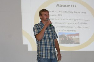 Nathan Peterson, Peterson Farm Brothers, 2013 Farm Science Review.