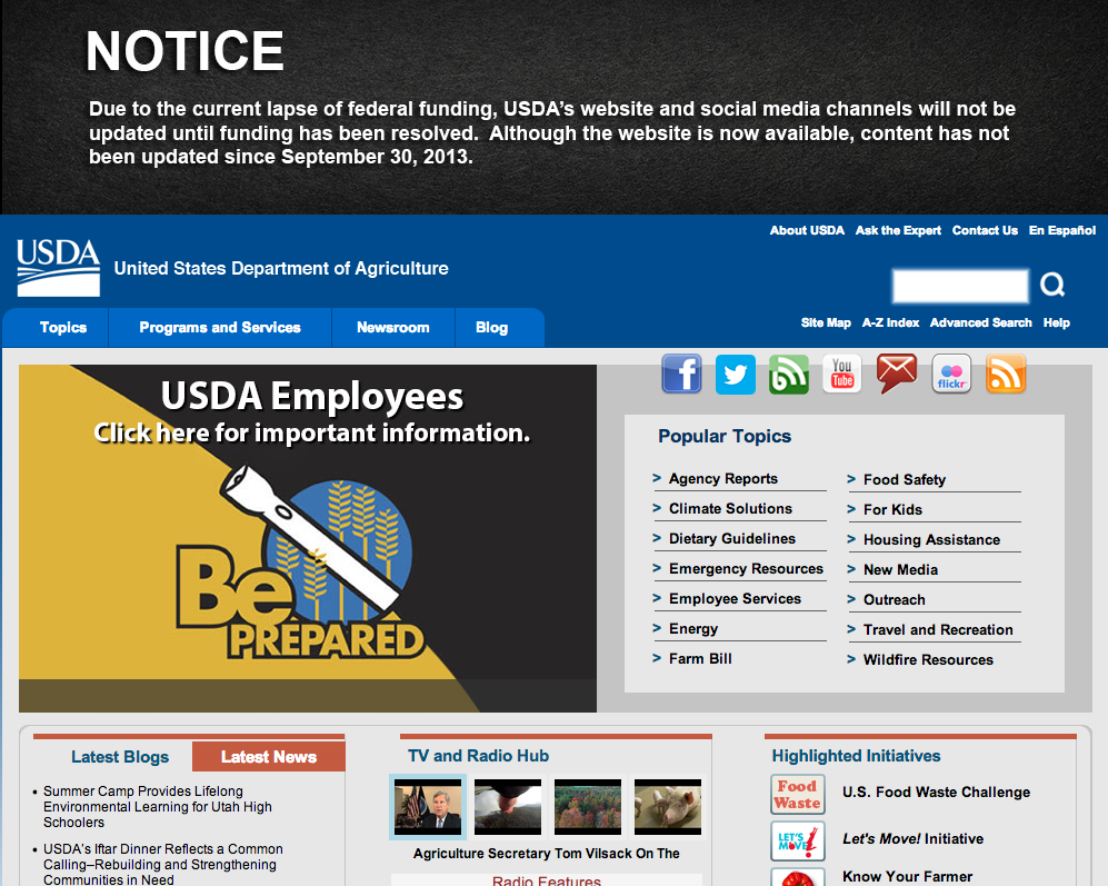 USDA website