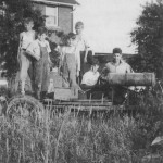 Vintage farm photo with kids