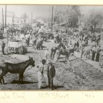 """(Photo submitted by William Mason)George Lipscomb (right), is at the Mule-Day event in Springfield, Tennessee. He was Floyd """"Jack"""" Lipscomb's father. Jack was William Mason's grandfather. This picture was taken sometime in the 1940s."""