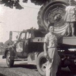 (Submitted by John Graham)John Graham and his father, Richard, are getting ready for the Dresden homecoming parade in 1953.