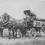 (Submitted by Eli Miller)Ben Murphy used to deliver coal, oil, and gasoline to farmers in Ashtabula County, Ohio. He was the lifeline for many farmers in his area.Notice the fly netting on the horses? Fly netting is used to keep flies from irritating the horse, an important safety feature when transporting volatile materials!