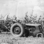 (Submitted by Eli Miller)Binding corn stalks was tough work in 1937. Curtis Hively is pulling a corn binder with his Huber tractor in New Waterford, Ohio.
