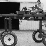 (Submitted by Ray Burger)Ray Burger of Louisville, Ohio, shared this vintage photo of a 4x4 hydrostatic drive High Boy crop sprayer and corn tassel cutter, c. 1949 or 1950.