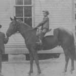 Horse and boy vintage photo