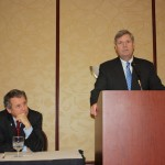 U.S. Sen. Sherrod Brown (left), and U.S. Secretary of Agriculture Tom Vilsack.