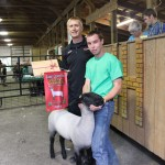 Glenn Leppo, of Leppo Rents, purchased Josh Conger's 132-pound reserve champion lamb for $4.25 a pound.