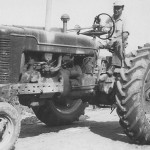 (Submitted by Nancy Bricker)Nancy Bricker, of Bolivar, Ohio, submitted this photo of her father, Floyd Baumgardner, driving a Farmall H 1944. The photo was taken in 1951. Floyd and Florence operated a dairy farm from 1947-1968.Florence raised acres of sweet corn and other vegetables, which she sold at the farm and the Dover farmers market. Florence still lives on the farm, and rents the land out for corn and soybean crops.