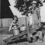 (Submitted by Art Smallsreed)Art Smallsreed submitted this photo of Eileen Schilliger with her father, Marion, on their farm in Ashley, Ohio, in the summer of 1943. Eileen is now Arthur's wife, and their son, Steven, (fifth generation) currently operates the Smallsreed farm with help from his family.