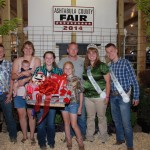 Teresa Polchin's best of show dairy cow cheese basket garnered an $800 bid from Cline Clute of Shady Springs Farms.