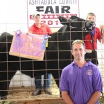Avery March sold the 1,400-pound best of show market steer for $2.85 a pound to Lisko Amusements, represented by Tim Lisko.